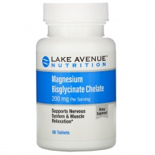 Витамины Lake Avenue Magnesium Bisglycinate Chelate 60 таблеток